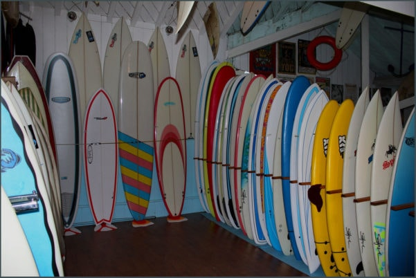 Surfboards in the Shop